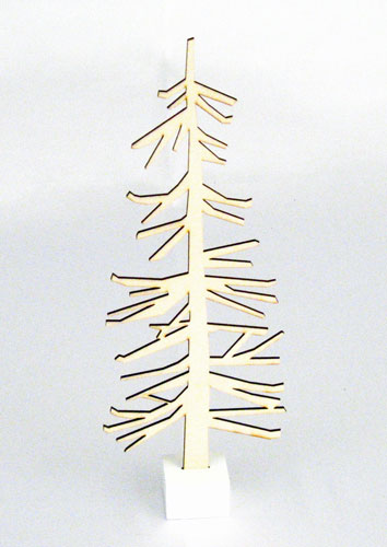 Nordic Tree Wood Cutout With Base  Christmas Decorations  Winter  Holiday Home Decor