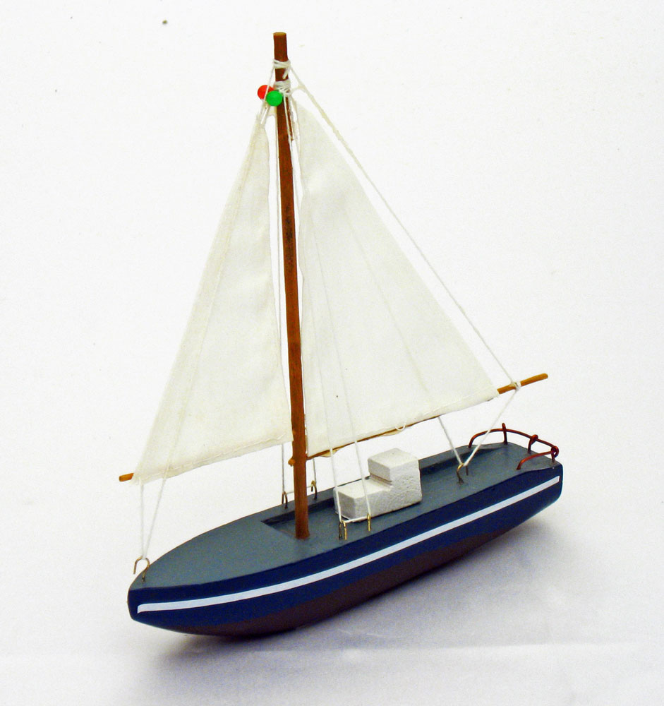 wooden sailboat decorate in