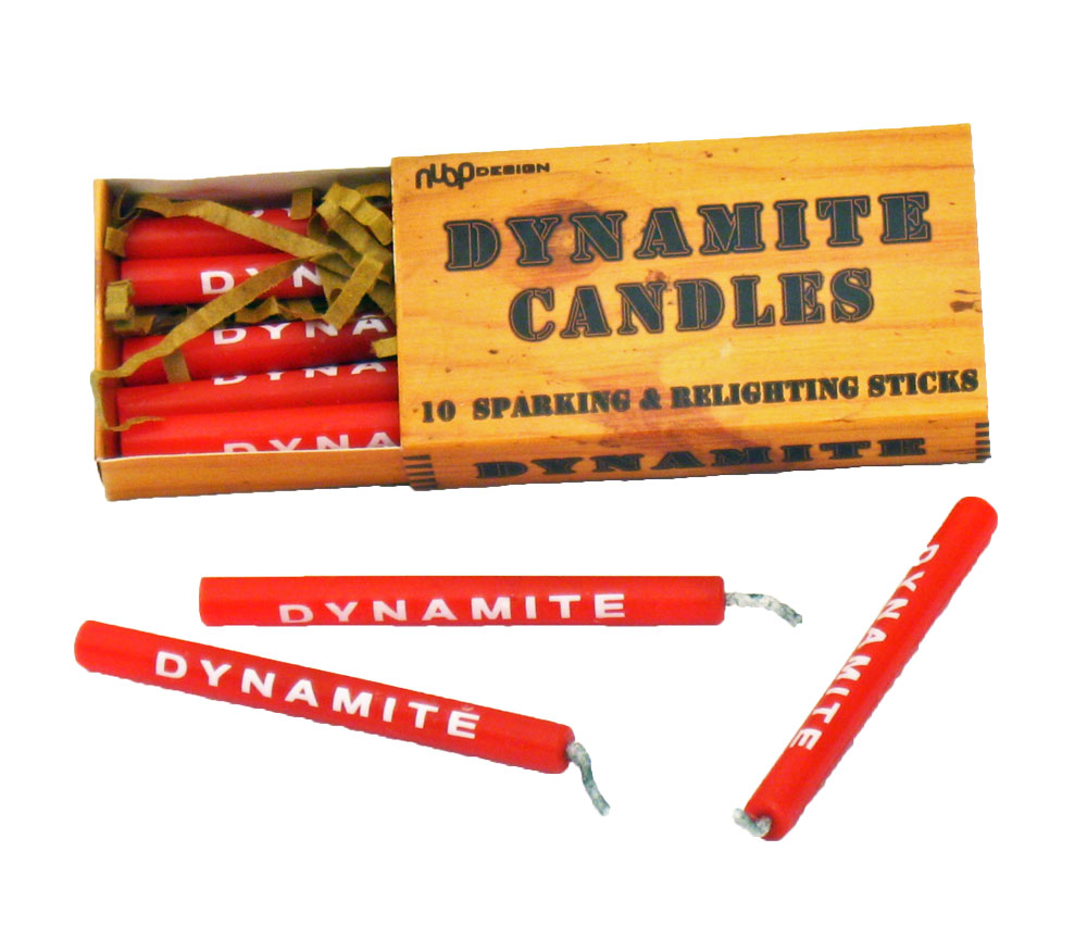 Dynamite Stick Birthday Candles  Unique Party Decorations