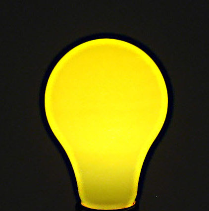 Yellow Party Light Bulb  Accent Lighting  Party Supplies