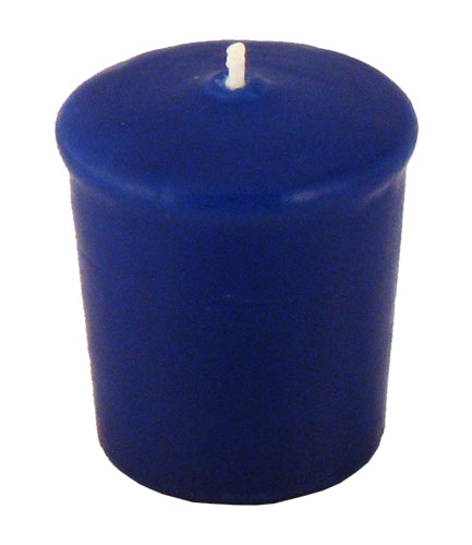 Stunning Blue Votive Candles  15 Hour  Unscented  Royal Blue Decorations