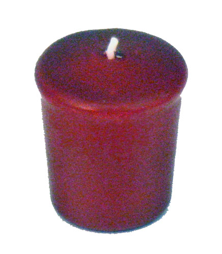 Burgundy 15Hour Unscented Votive Candle Wine Red