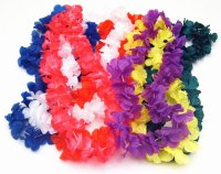 Hawaiian Silk Flower Leis | Luau Party Decoration Packages