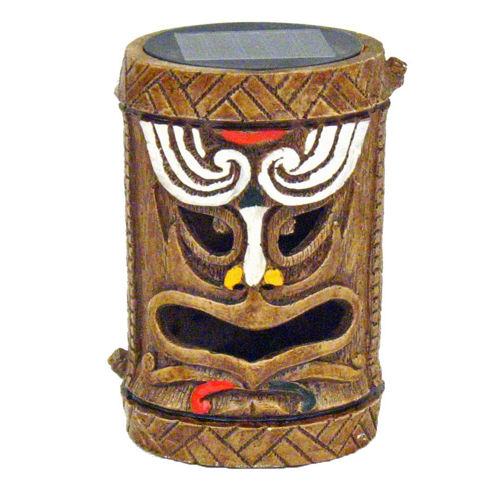 Tiki God SolarPowered Accent Light  Post  Hawaiian Luau