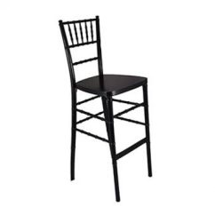 Chair Stool Black Teak Shower Chairs Benches And Tables Archives Party Time Rentals Chiavari Bar