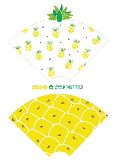 Cone Wrapper a tema ananas