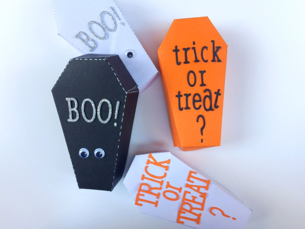 Scatoline decorate per Halloween