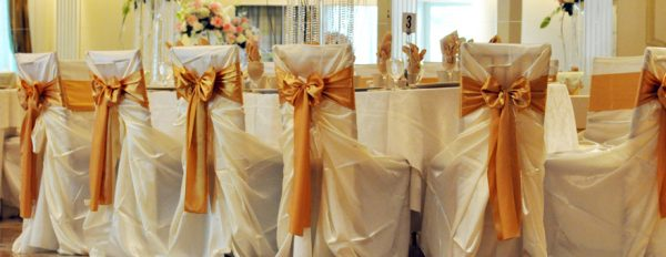 chair cover for rent wedding steel sofa rentals covers linens rental