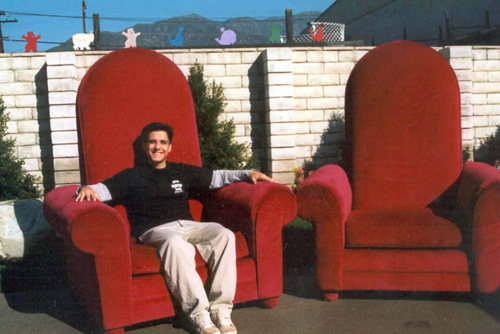 santa claus chair baby gym chairs « los angeles partyworks, inc.   equipment rental, interactive games, casino, grad ...