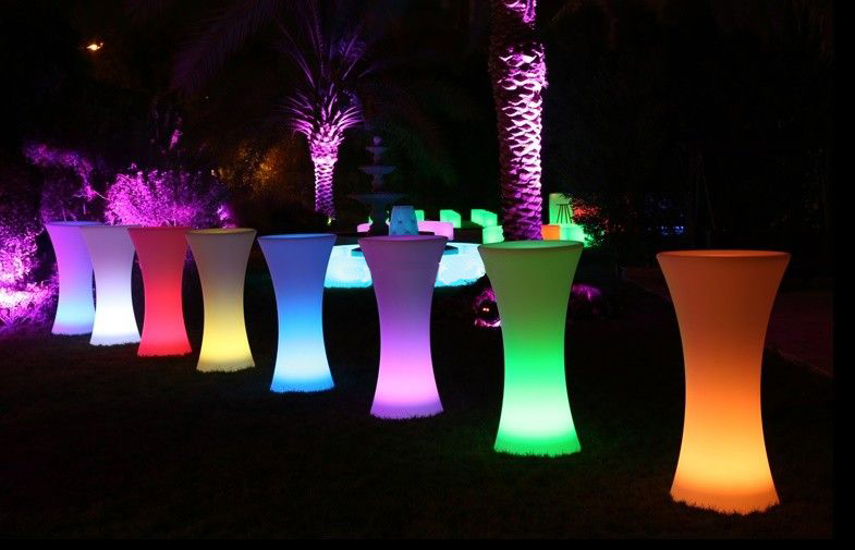LED Cocktail Table  Los Angeles PartyWorks Inc