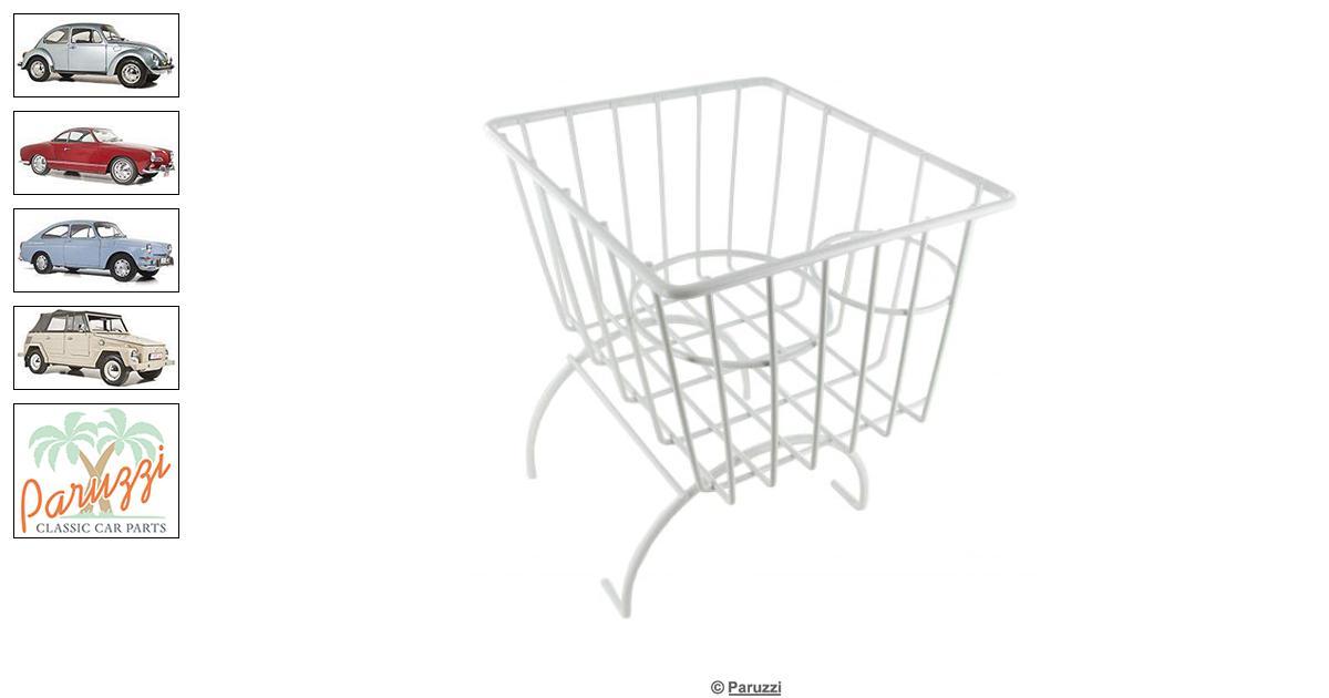 Volkswagen Beetle Storage basket with cupholders white
