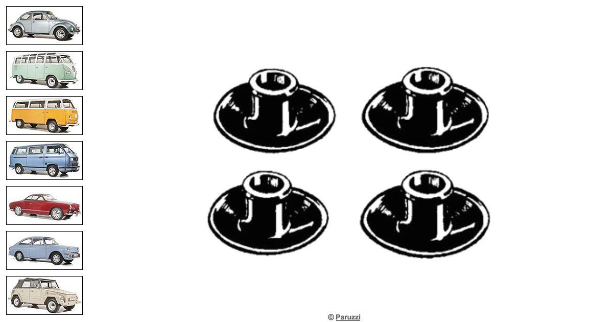 Volkswagen Beetle Spark plug seals (4 pieces) number 2019