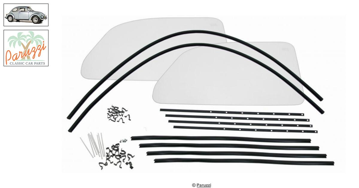 Volkswagen Beetle One-piece windows kit with clear glass