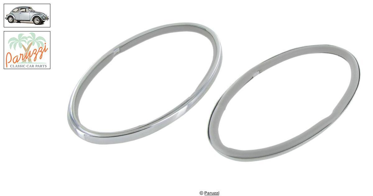 Volkswagen Beetle Tail light chrome rings (Per Pair