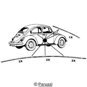 Paruzzi: Kever, Bumpers vanaf 8.1974, Carrosserie