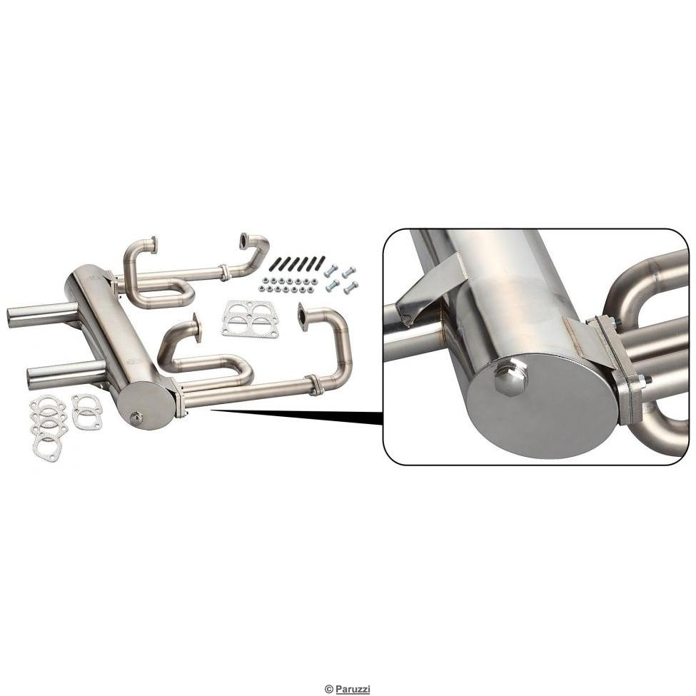 hight resolution of exhaust german dual tip 38 mm stainless steel