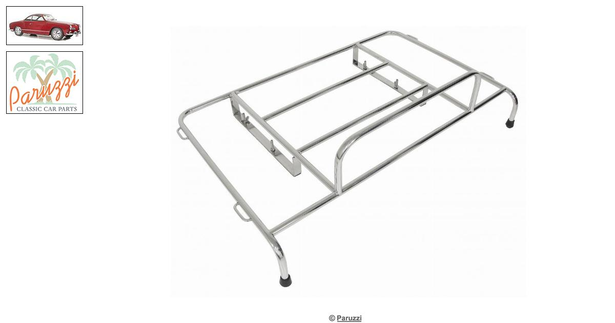 Volkswagen Karmann Ghia Deck lid rack chrome number 10400