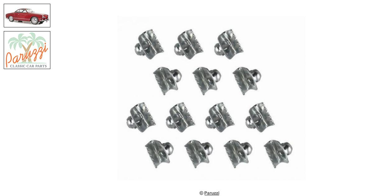 Volkswagen Karmann Ghia Felt (inside) clips (14 pieces