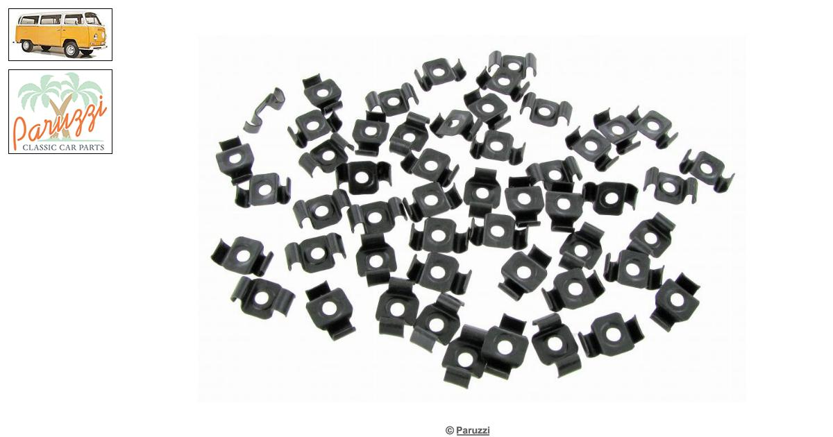 Volkswagen Bay window Molding clips (51 pieces) number