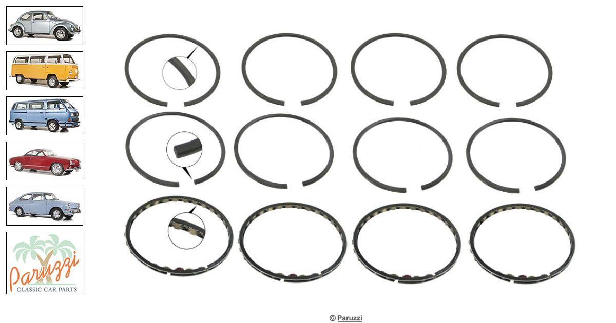 Volkswagen Beetle Standard piston ring kit number 21893
