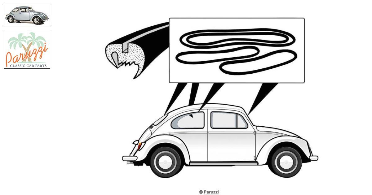 Volkswagen Beetle Window seal kit Cal-look number 301