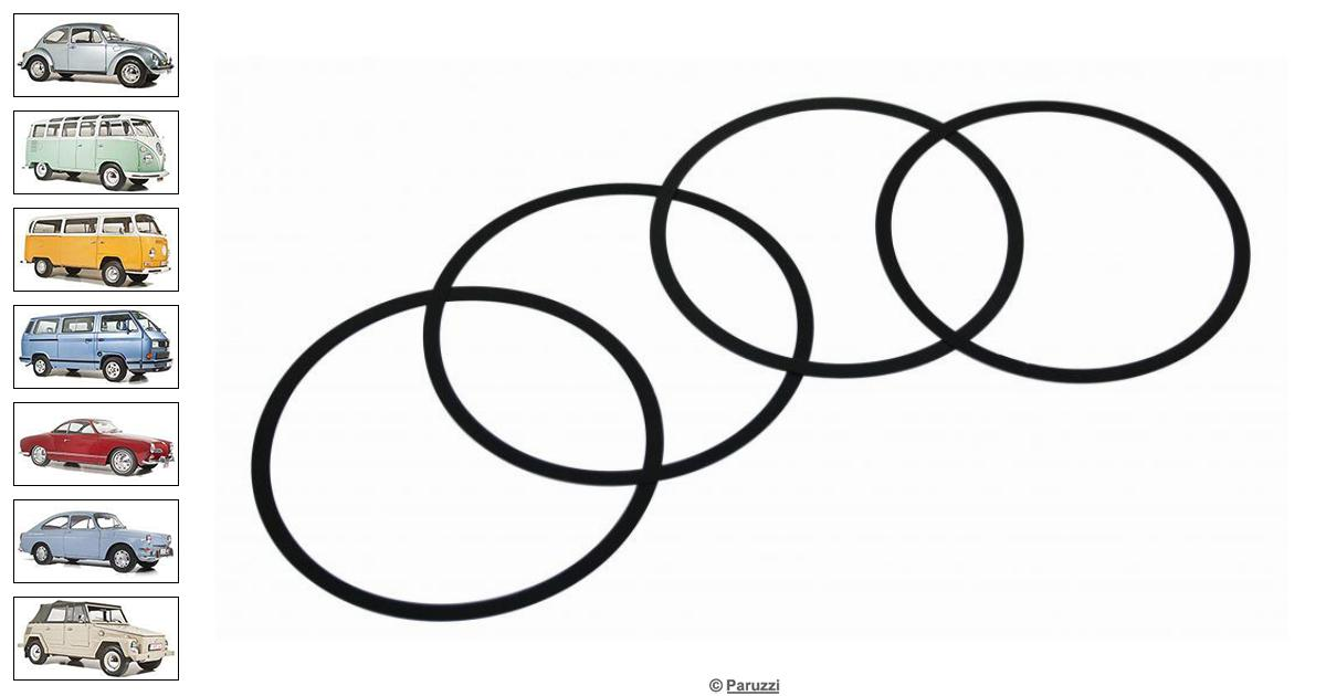 Volkswagen Beetle Cylinder shims 0.254 mm (4 pieces