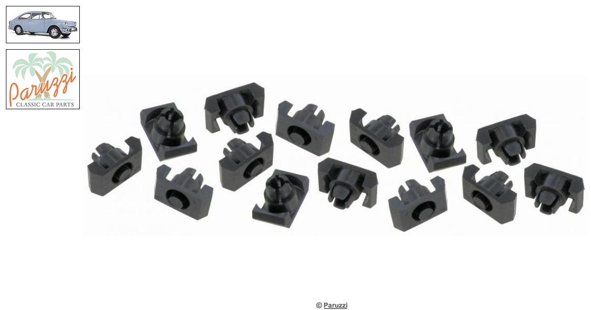 Volkswagen Type 3 Rocker molding clips (14 pieces) number