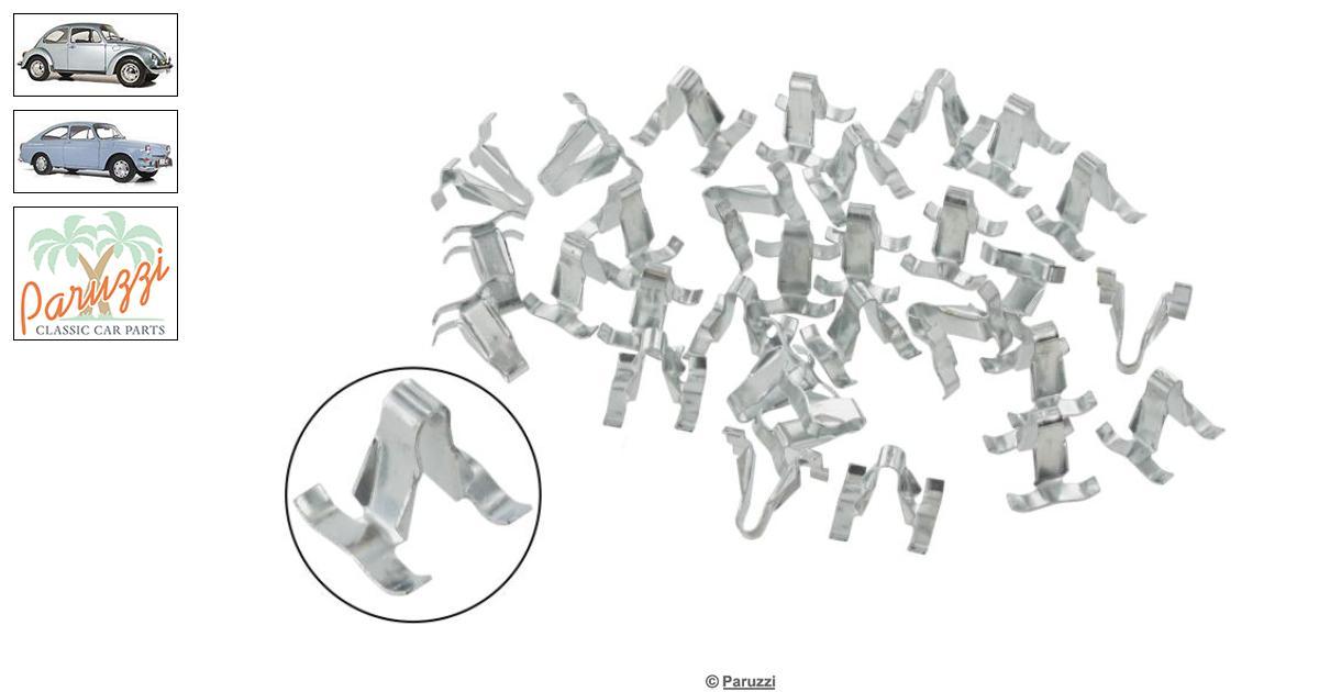 Volkswagen Beetle Molding clips body (34 pieces) number
