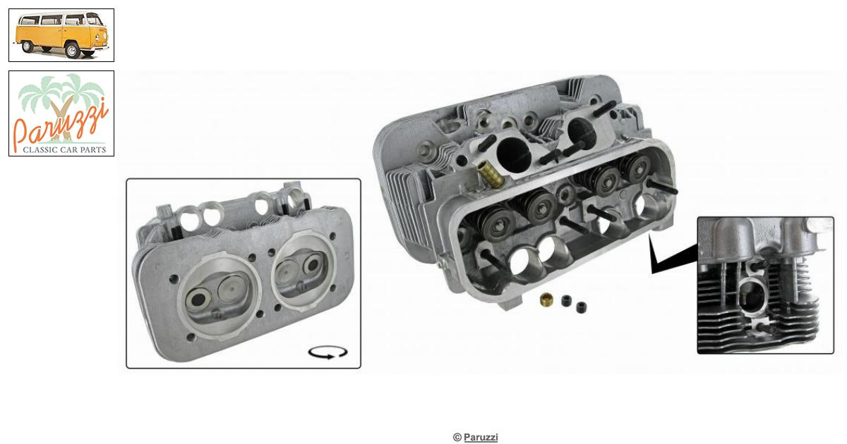 Volkswagen Bay window Cylinder head complete (each) number