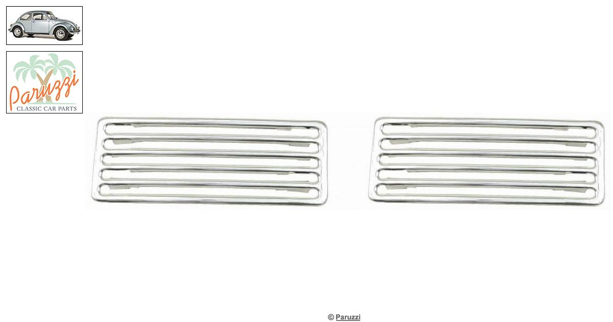 Volkswagen Beetle Aluminum vent trim engine lid with 10