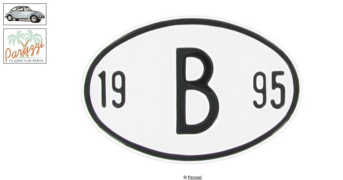 Volkswagen Beetle Origin plate: B 1995 number 9579