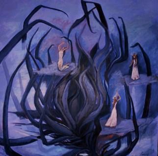 Acrylic on canvas, 120 x 120 cm, 2008