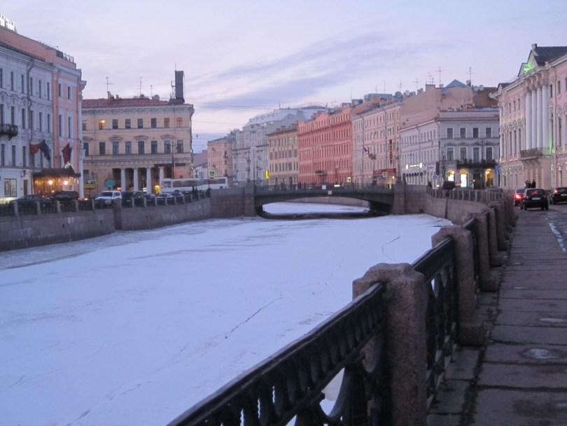 Canales helados San Petersburgo