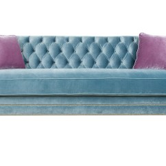 Hollywood Regency Curved Sofa Broyhill Sectional Reviews Tufted Velvet Julia