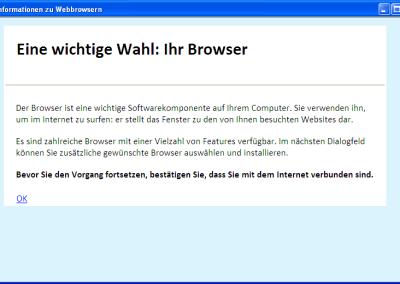 Browserwahl Start