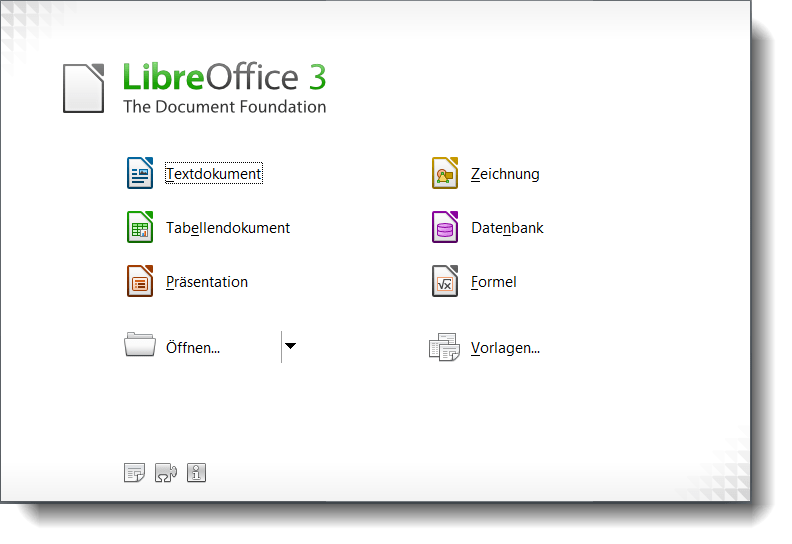 LibreOffice Startcenter