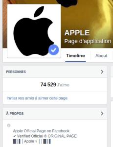 Site arnaque Facebook