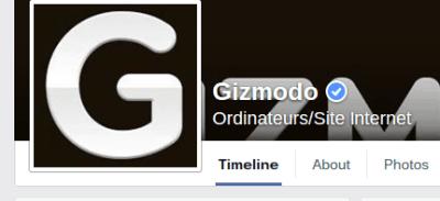 Site Facebook officiel vérifié