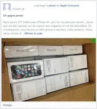Vous ne gagnerez pas d'iPad par Facebook