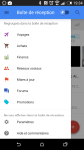 Google Inbox tri des courriels