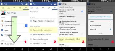 Comment désactiver la lecture automatique des vidéos Facebook Android
