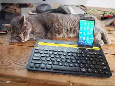 Logitech k480 et mon chat