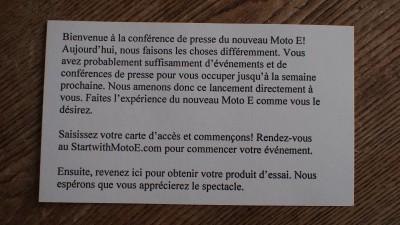 Note Moto E Motorola
