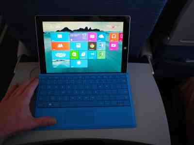 Surface 3 en avion