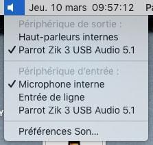 Parrot Zik 3 USB Audio 5.1