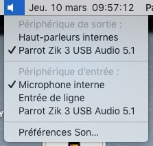 Parrot Zik 3 USB Audio 5.1