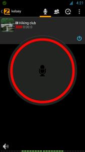 interface Zello PTT app screenshot