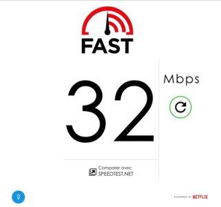 Fast test vitesse internet