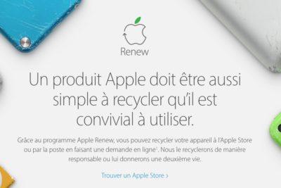 Apple Renew recyclage
