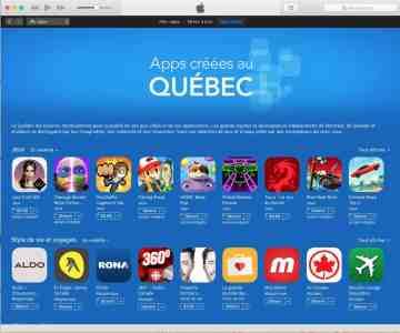 App store Apps créées au Québec iTunes